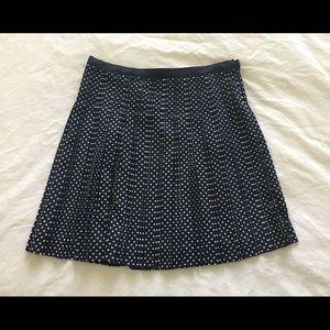 Polka dot J Crew skirt